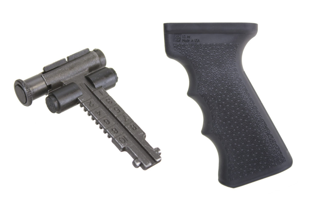 Our new Rubber overmolded Tactical Pistol grip and RPK style Rear sight